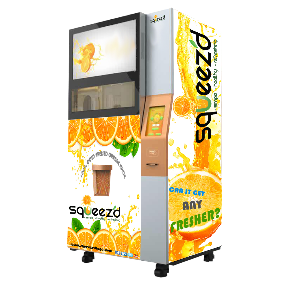 Squeez D To Go Quality Vending Machine Producing Orange Juice Our